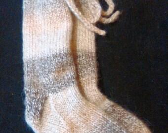 Vegan friendly, fluffy, toe cuddling, knee length winter welly, boot, sassi socks