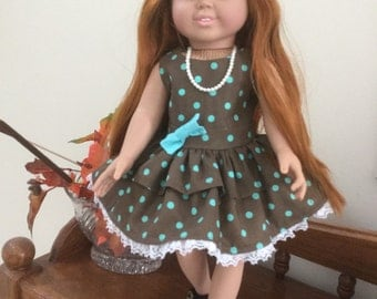 American Girl Doll Polka Dot Dress