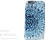 Blue Mandala iPhone 6 6s Case - Artistic Zen iPhone 6 case - Cloud Mandala - Beautiful Abstract Buddhist Art iPhone 6s Case - Dual Layer