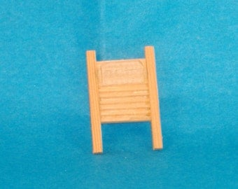 Miniature Vintage Wooden Washboard, Old Fashioned Cleaning - Great Accessory for Your Dollhouse, Shadow Box
