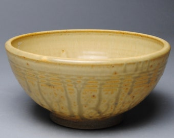 Clay Bowl Serving Taffy Yellow D83