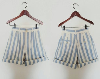 1980s Ralph Lauren Striped Shorts Size 4