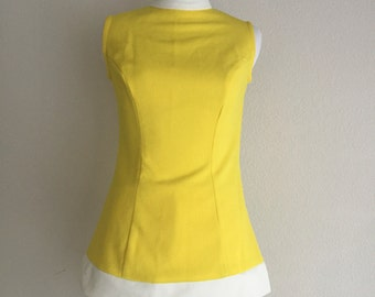 Yellow & White Hot Pants Suit