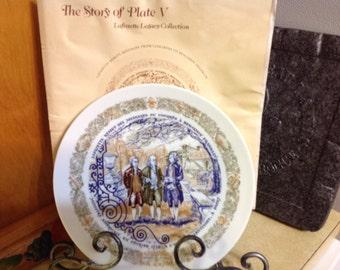 Vintage Four Porcelain Collectable Henri D'arceau Limoges Military Plates