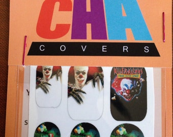 Scary Clown Halloween Nail Decals