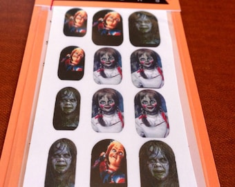 Chucky doll Halloween Nail Decals