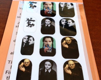 Addams Family Wednesday Adams Nail Decals