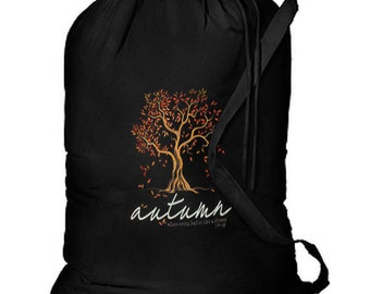 Autumn Tree Leaves New Laundry Camp Travel Shop Tote Bag