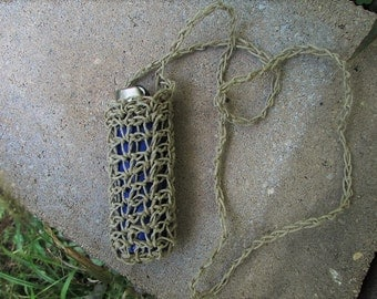 Handmade Hemp Lighter Holders~Handmade Natural Hemp