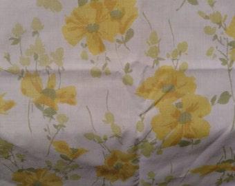 Vintage Pillowcase Yellow Floral USA