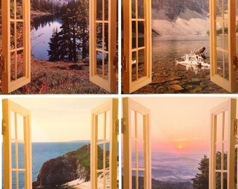 Cubivue Cubicle Window Views (set of 4 prints)