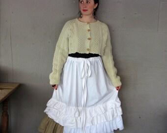 upcycled tattered skirt petticoat Lagenlook clothing Mori girl romantic French Shabby Large X Large 1 X 2 X prairie girl LillieNoraDryGoods