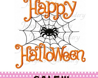 SALE!!!Instant Download Happy Halloween Applique Embroidery Design NO:1086