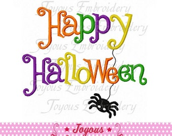 Instant Download Happy Halloween Applique Embroidery Design NO:1810