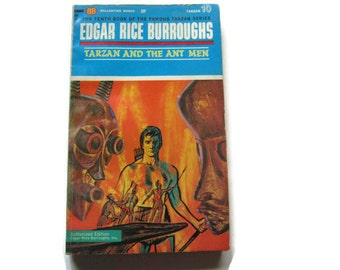 Tarzan and the Ant Men #10, Edgar Rice Burroughs 1963, Ballantine Books 1960s 60s books