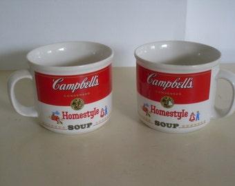 Pair of Vintage Campbells Soup Cups