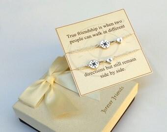 Compass bracelet. Personalized compass bracelet, best friends bracelet, sister bracelet. Journey bracelet. Birthstone bracelet.
