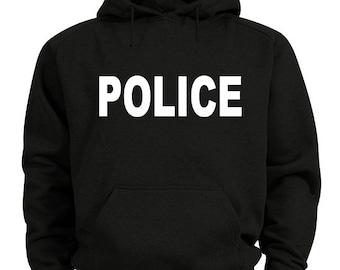 Police hoodie sweatshirt
