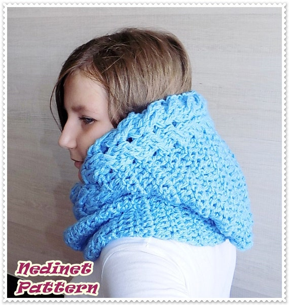 Crochet Infinity Scarf Pattern For Child : Crochet pattern, crochet hooded scarf pattern, crochet ...