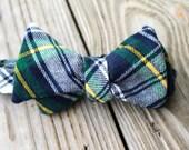 Green Flannel Winter Bow Tie