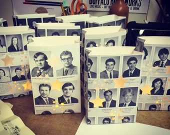 Yearbook Luminaries, Class Reunion Decor, High School Reunion, Reunions, Retro, Yearbooks, Yearbook