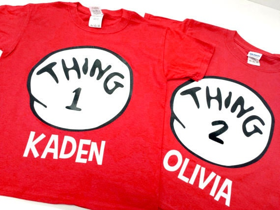 Custom Thing 1 2 2 Shirts With Custom Names