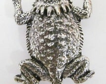 Pewter - Horny Toad-Short Horned Lizard - Refrigerator Magnet - A061M,AC061M,AP061M