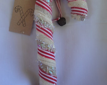 homespun candy cane decor