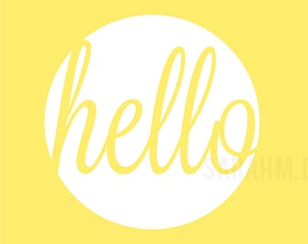 Hello Yellow Digital File