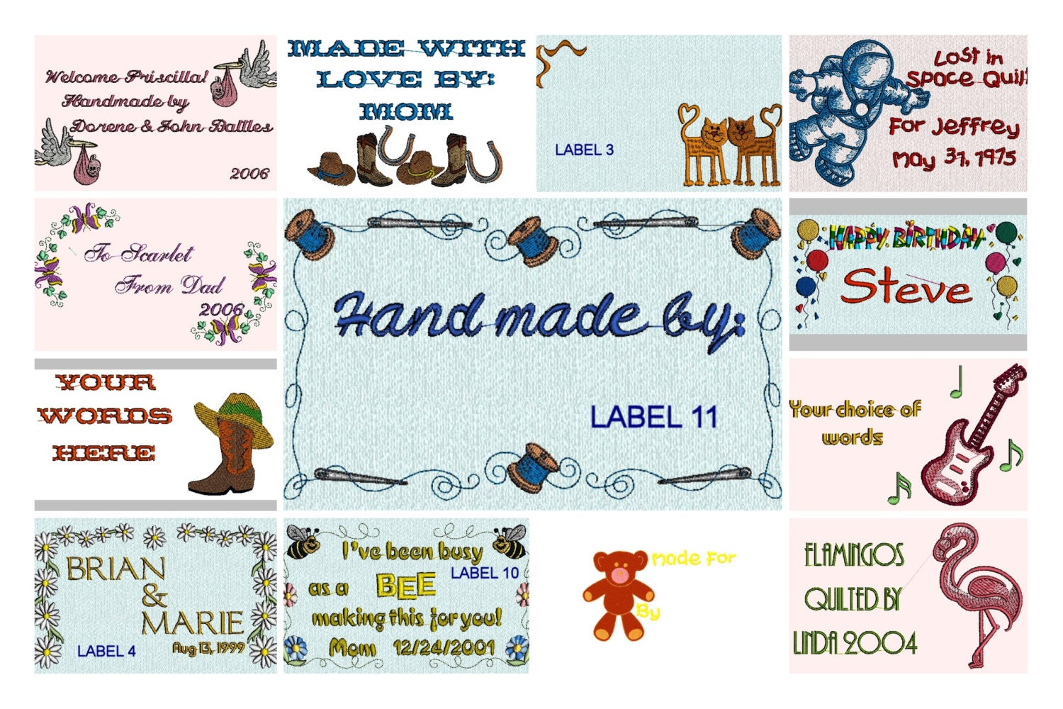 Handmade Personalized Quilt Labels Personalize By
