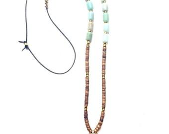 Onix Natural Crescent Necklace