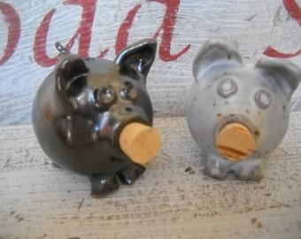 Salt and Pepper, Salt Cellar, Salt Pig, pair