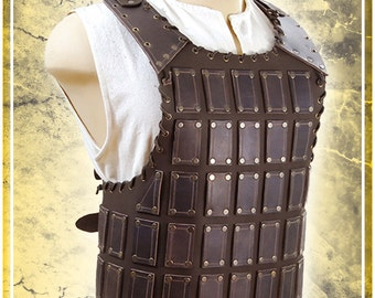 Bohemond Breastplate - LARP Brown Leather Armor
