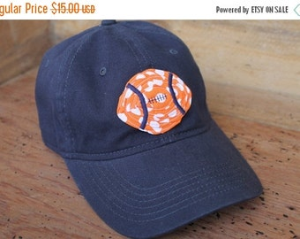 Sale Baseball Cap - Navy/Orange Football - Ready to Ship