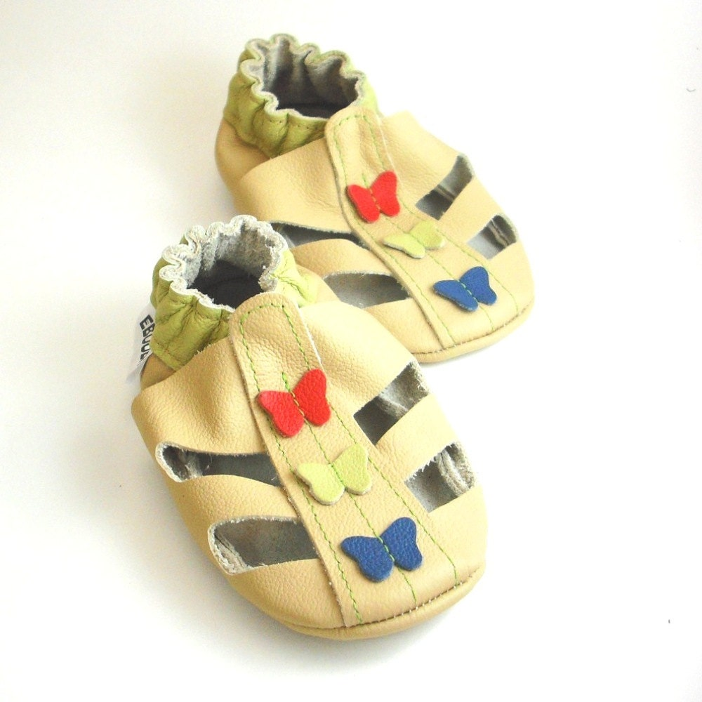 soft sole baby shoes handmade infant t sandals beige