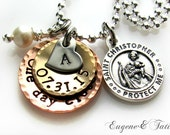 Deployment Jewelry. Deploy. US Navy. Marines. Air Force. Personalized. Custom. Army. Military. Wife. One Day Closer. Sterling Chain.