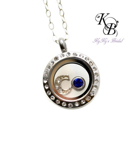 birthstone necklace little girl jewelry personalized locket. Black Bedroom Furniture Sets. Home Design Ideas