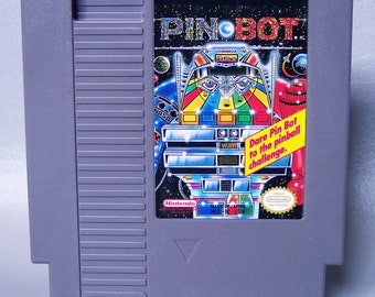 Vintage 1986 Nintendo PinBot Video Game in Working Condition