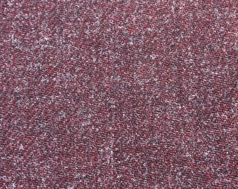 Vintage Maroon Purple Wool Blend Fabric, Burgundy Speckled Material, Dress Pants Skirt Fabric, Quilting Sewing Fabric, 2 yards