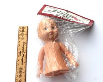 Vintage Half Plastic Baby Doll for Air Freshener Steampunk Craft, 5 1/2 inch doll