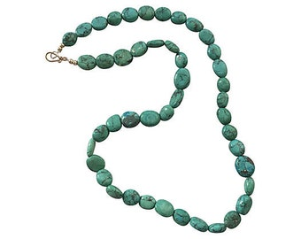 Turquoise Howlite Stone Necklace