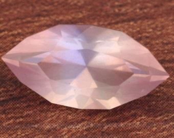 3 Carat Rose Quartz Gemstone Hand Cut Marquise Gem