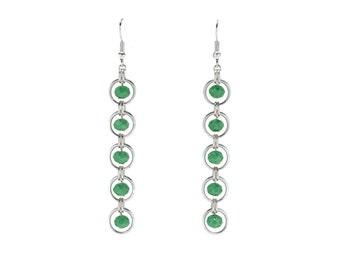 Crystallized Rings Earrings | silverplated