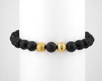 Lava Gold Bracelet | goldplated