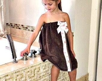 Toddler Towel Wrap-  Childs Towel Wrap-  Spa Wrap-  Birthday Gift-  Toddler Bath Towel- Child's Bath Towel Wrap- Personalized Bath Wrap