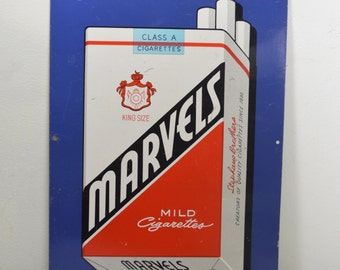 Marvels Mild Cigarettes Advertising Sign/Industrial Store Sign