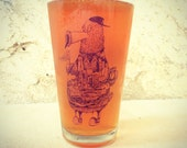 Philadelphia Phanatic -- Paul Carpenter Art -- Pint Glass
