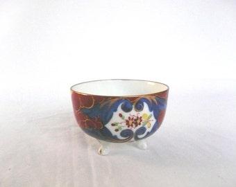 Vintage Japanese cup - Japanese tea cup - hand painted Japanese cup - footed Japanese porcelain cup - oriental demitasse cup