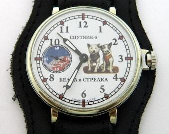 USSR Russian watch MOLNIJA Molnia Belka-Strelka #362S