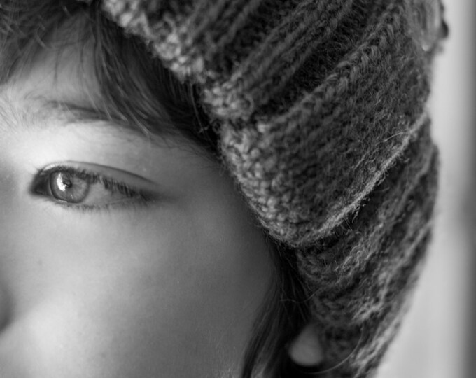Fisherman beanie - fisherman's hat - wool beanie - wool hat - handknit beanie -winter hat - kid beanie - unisex ribbed beanie